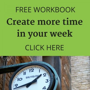 Free workbook - Create more time in your week - by Lucy Stanyer Life Coach