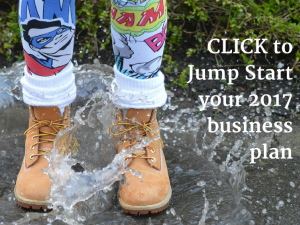 [image: two boots jumping into water with text] CLICK to jump start your 2017 biz planning 2hr in depth business coaching session to jump start your business in 2017