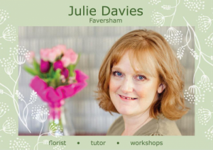 Julie Davies Flower Workshops flyer. Lucy Stanyer Life Coach client testimonial.