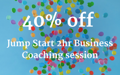 40th birthday offer: 40% off Jump Start business planning session